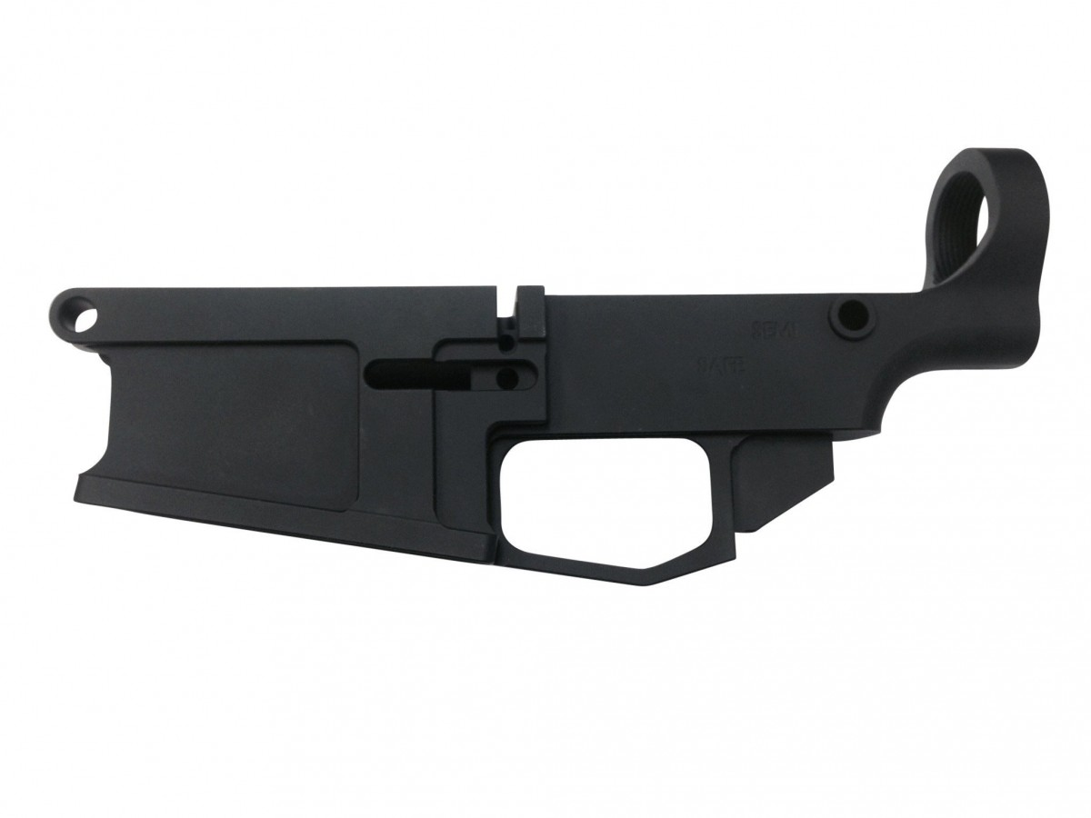 80% ARMS - BLACK ANODIZED BILLET .308 80% LOWER RECEIVER
