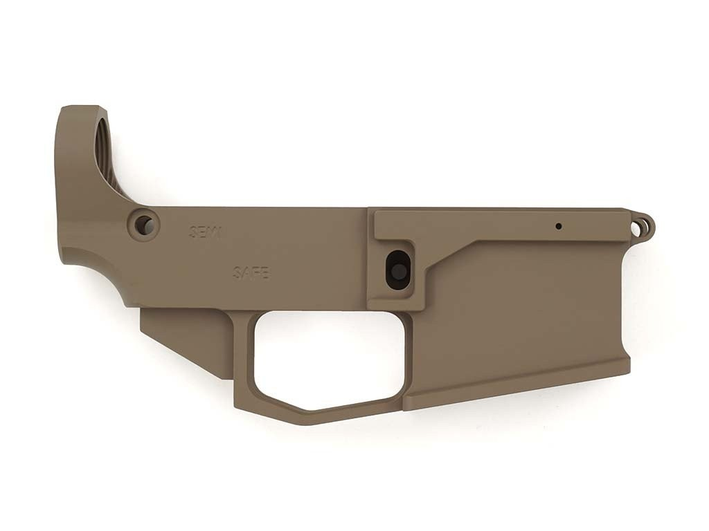 80% ARMS - FLAT DARK EARTH CERAKOTED BILLET AR-15 80% LOWER RECEIVER