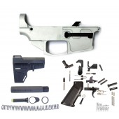 NEW FRONTIER ARMORY C-9 80% 9MM AR BILLET LOWER RECEIVER WITH SHOCKWAVE PISTOL STOCK KIT AND LOWER PARTS KIT